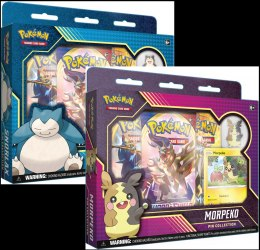 Pokemon TCG: Sword & Shield - Rebel Clash Snorlax and Morpeko Pin Collection (Display 6 szt.)