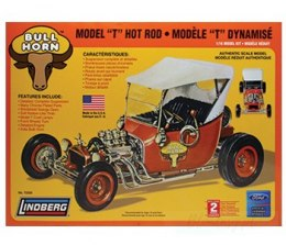 Model plastikowy - Bull Horn Ford Model T Hot Rod - Lindberg