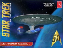 Model plastikowy - Star Trek U.S.S. Enterprise 1701-D (Clear Edition) 1:1400 - AMT